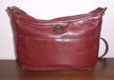ETIENNE AIGNER VINTAGE Brown / Burgundy Leather SHOULDER BAG ~ GUC