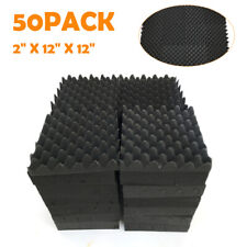 """50 Pack Acoustic Foam Panel Wedge Studio Soundproofing Wall Tiles 12""""X12""""X2"""" new"""
