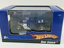 Hot Wheels BONE SHAKER Car Toy Diecast In Acrylic Case 2009 Blue 1:87