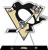 "Pittsburgh Penguins NHL Team Logo StandZ Action Photo Desktop 8"" Display"