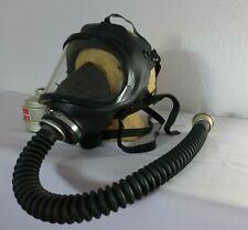 Gasmaske schwarz Gummi m.Panoramaglas, Schlauch u. Filter, groß