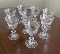 "8 Sherry Cordial Crystal GLASSES 4 1/2"" Star Ridge Similar: Waterford Glenmore"