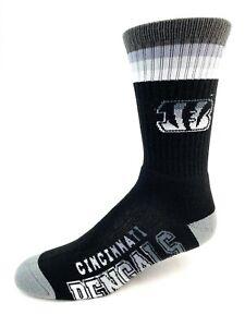 Cincinnati Bengals Football Gray & Black Platinum Deuce Crew Socks