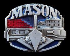 BRICK LAYER MASON MASONS WORK TOOLS BOX SPOON BRICK BELT BUCKLE BOUCLE CEINTURES