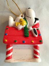 """Peanuts 2 1/2"""" Snoopy Dog Laying on House Character Figurine Ornament"""