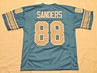 UNSIGNED CUSTOM Sewn Stitched Charlie Sanders Blue Jersey - M, L, XL, 2XL