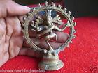 Vintage Solid Brass Hindu Tribal Dancing God Shiva Natraj Statue Figurine  04