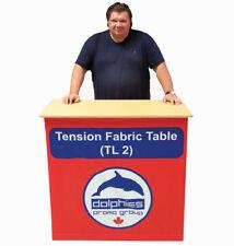 Trade Show Promo Portable Counter Fabric Table Display Kiosk Custom Print