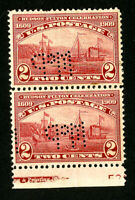 US Stamps # 372 Pair Perforated Initials from Drug Company Scarce