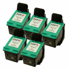 5x HP 344 C9363EE Colour Reman Ink Cartridges for HP Deskjet 5740 5745 5940 6520