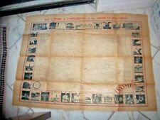 """MAP OF ROME COMPLIMENTS AMERICAN RED CROSS APPROX 39"""" X 29"""" OLD STOCK PAPER"""