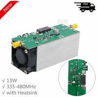 13W RF Power Amplifier 433MHz (335-480MHz) Radio Frequency Amp with Heatsink