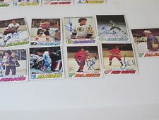 LOT OF 17 DIFFERENT AUTOGRAPHED 1977 OPC O-PEE-CHEE HOCKEY CARDS