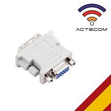 ACTECOM® Adaptador Conversor DVI-D 24+1 Pin DualLink Macho VGA A Hembra 15 Pin