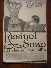 C 1919 antique Resinol Soap John Lagaita Print Original ADVERTISEMENT AD WW1