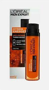 NEW - L'Oreal Men Expert Hydra Energetic Anti Fatigue Turbo Boost Gel 50ml