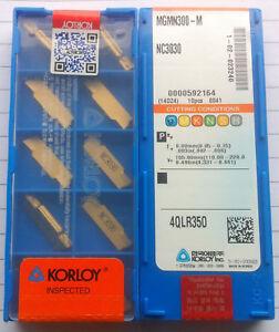 KORLOY MGMN300-M NC3030 3.0mm CNC Inserts for Cutting Turning Tool 10pcs/Box
