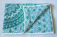 Quilt Ombre Mandala Baby Quilt Handmade Reversible Coverlet With Cotton Filled