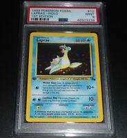 PSA 9 MINT Lapras 10/62 1ST EDITION Fossil Set HOLO RARE Pokemon Card