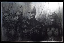 "Pinhead Hellraiser Clive Barker ""Prince of Pain"" rare METALLIC FOIL PRINT 11x17"
