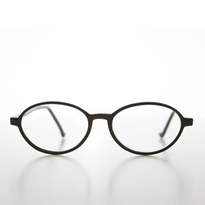 Black Oval Optical Quality Reading Glasses 1.00 diopter - Bess