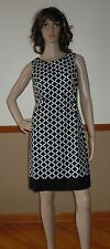 WHITE HOUSE BLACK MARKET Perfect Form Geo Print Shift Dress Size 4 NWT! $160