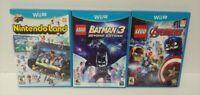 Nintendo Wii U 3 Game Lot Nintendoland, Lego Avengers, Lego Batman 3 Beyond
