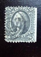 A Great Stamp US Civil War Issue #69 Washington 12c Black, 1861-62 Second Design