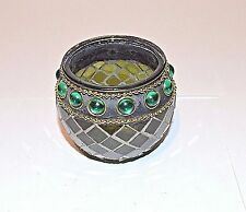 Tea light candle holder gypsy beads mosaic stained glass collectible decorative