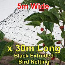 5mtr wide x 30mtr  BLACK Anti Bird Netting Fruit / Plant Tree Bird Netting / Net