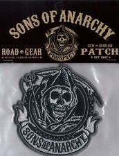 SONS OF ANARCHY REAPER OVAL LICENSED EMBROIDERED BIKER PATCH
