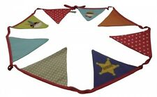 Gisela Graham Cowboy Range Fabric Bunting - Boys bedroom or playroom Accessory