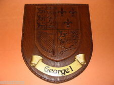 British Royal Coat of Arms King George I Heraldry Crest Wall Plaque England