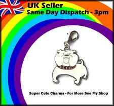 Cute Fun British Bulldog Charm for Dog Collar / Bracelet / Keyring / Handbag