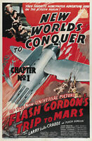 Flash Gordon's Trip to Mars (1938) Buster Crabbe serial movie poster 24x36