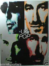 "U2 ""Pop"" U.S. Promo Poster - Album Cover Artwork Of The Band's Faces"