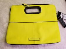 BCBG Neon Yellow Clutch Handbag