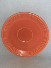 "Vintage Genuine FIESTA WARE Red Orange Saucer - 6"" RADIOACTIVE RED"