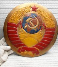 BIG VTG USSR Russian Heavy sign Plaque CCCP Coat of arms