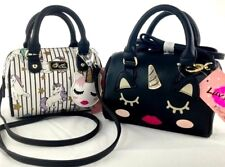 Luv Betsey Johnson Mini Unicorn Kitty Cat Unikitty Crossbody Bag Barrel Handbag
