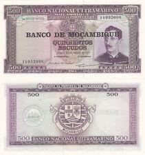 Billet banque MOZAMBIQUE MOCAMBIQUE PORTUGAL 500 escudos 1977 NEUF NEW UNC