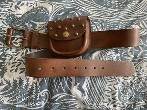 Next Leather Belt With Studded Purse/bag Medium New