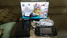 Nintendo Wii U 32GB Black System - w/ 10+ Games MARIO3DLAND uDraw Pad PICTIONARY