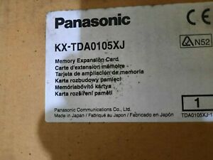 1x PANASONIC KX-TDA0105XJ , MEMORY EXPANSION CARD for Hybrid PBX , NEW