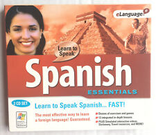 Learn To Speak Spanish eLanguage Instructional Program 2 Cd Set Nwot