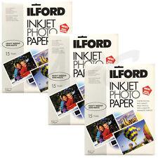 "Inkjet Photo Paper Ilford Semi-Matte 8.5 x 11"" 45 Sheets for Canon HP Epson"