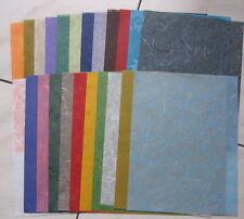 Gros Lot Papier mûrier & banane 20 couleurs différentes format A5
