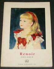 Renoir Children Petite Encyclopédie de L'Art #19 Color Plates Girls Piano Blue