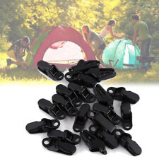 20PCS Tent Awning Tarp Clamp Gripper Alligator Clip Outdoor Camping Fixed Clips