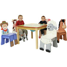 Happy Farm Childrens Wooden Animal Table Kids Furniture Fantasy Fields NEW